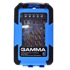 Jogo Bits Broca 27PC G19510AC Gamma