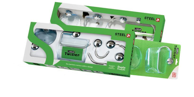 Kit para Banheiro Twister 5pçs ABS Steel - MATERGI MATERIAIS DE CONSTRUÇÃO