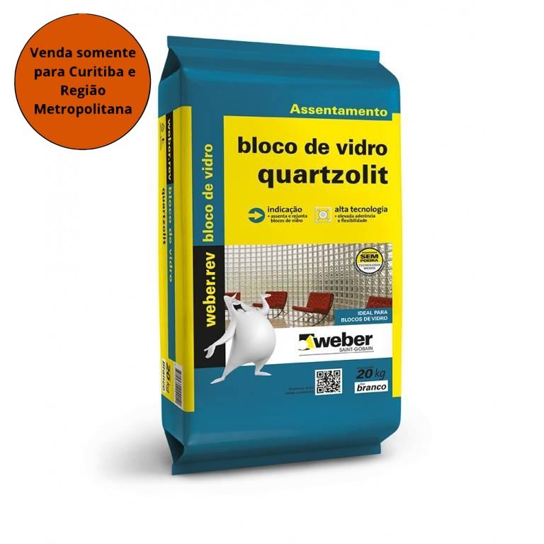 Argamassa Bloco de  Vidro Quartzolit 5KG - MATERGI MATERIAIS DE CONSTRUÇÃO