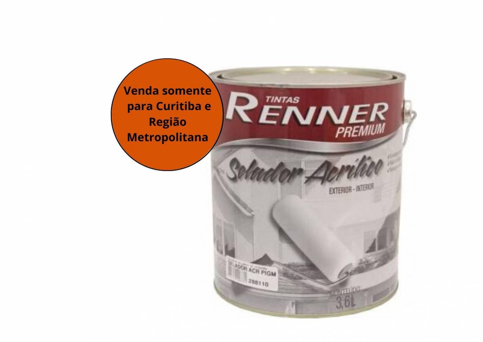 Selador Acrílico Pigmentado  3,6L Renner - MATERGI MATERIAIS DE CONSTRUÇÃO