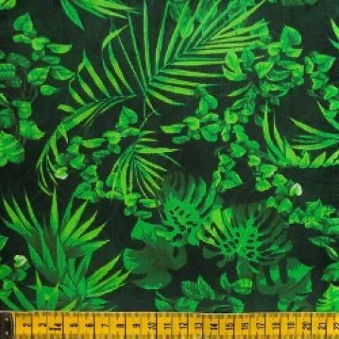 Folhagem fundo verde Ref. 29001 cor 01 - Armarinhos Nodari