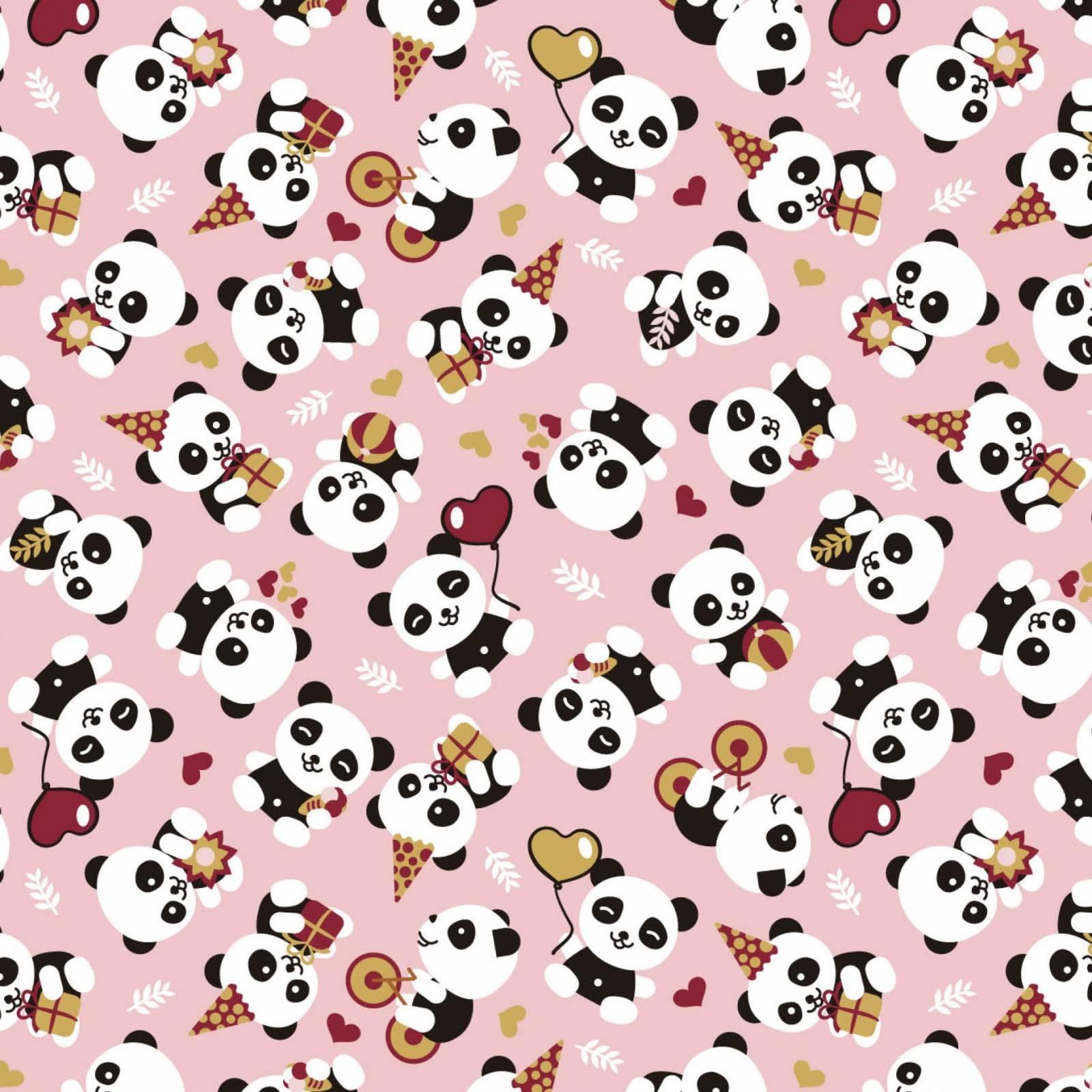 Estampado Pandas Ref. 2078 Círculo - Armarinhos Nodari