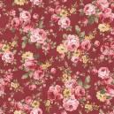 Grand Floral Vinho Ref. 9909 Fabricart