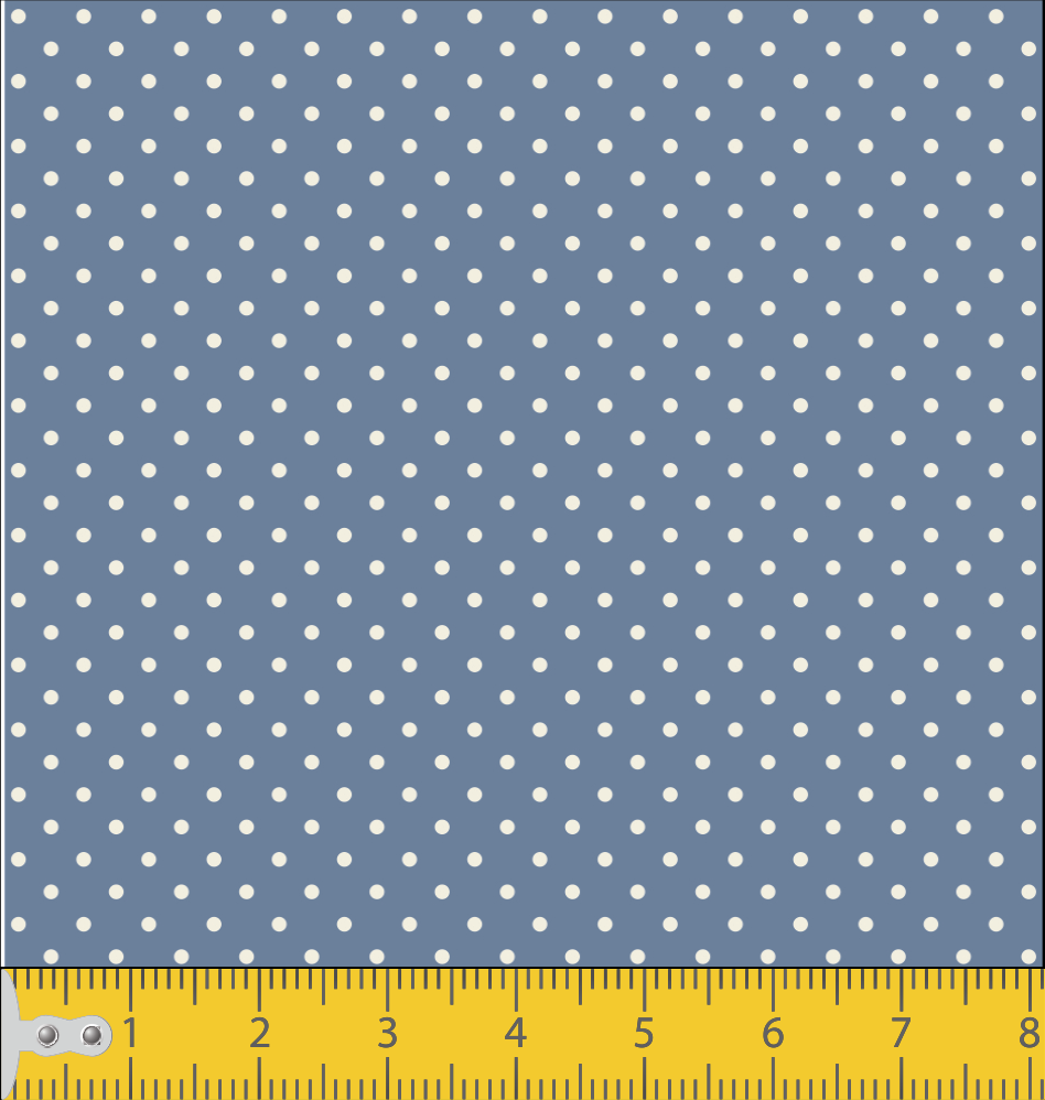 Micro poá azul jeans com bege Ref. 1002 cor 131 Peripan - Armarinhos Nodari