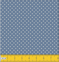 Micro poá azul jeans com bege Ref. 1002 cor 131
