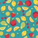 Salada De Fruta Fundo Verde Jade Ref. SD8018 Cor 03 Eva e Eva
