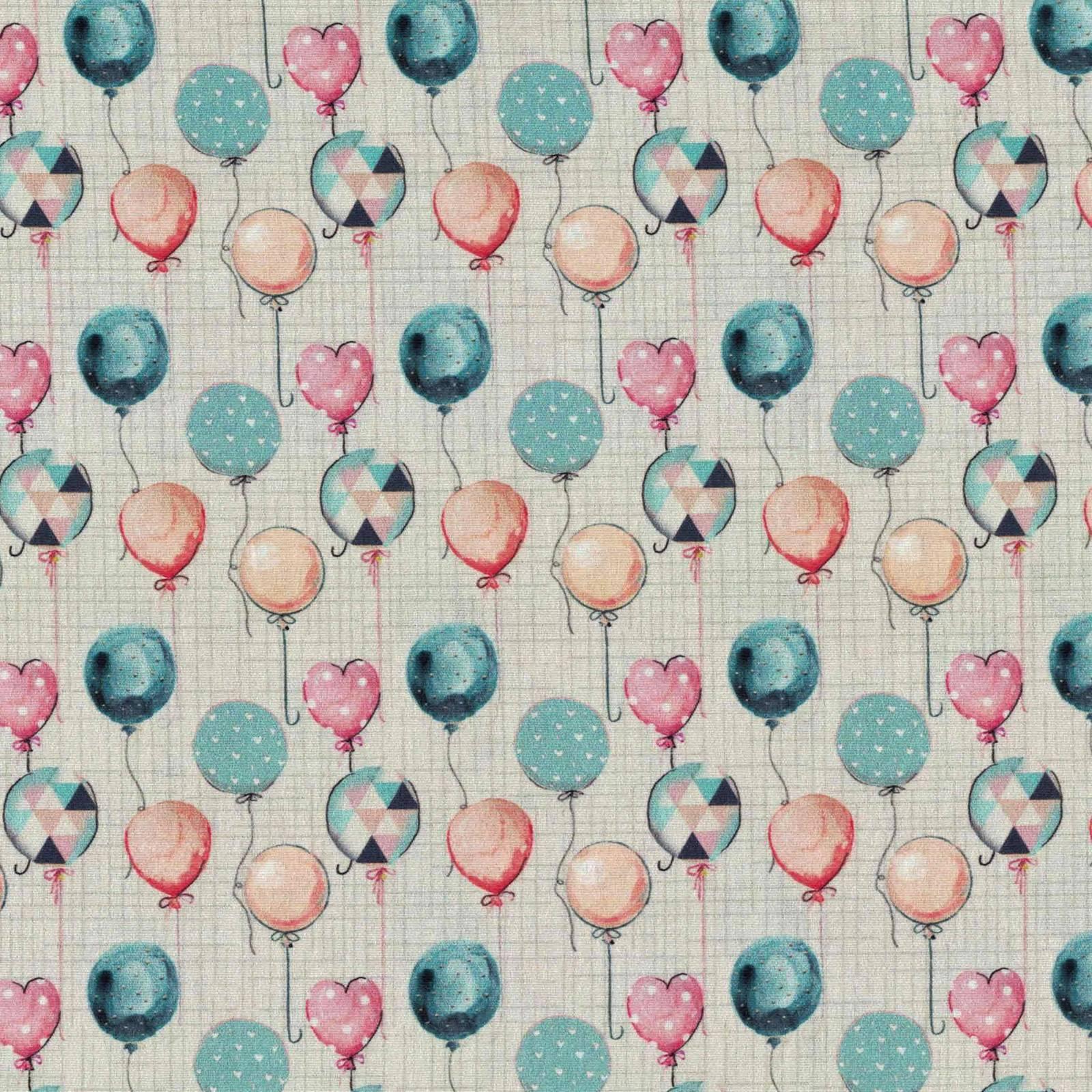 Estampa Digital Balões Ref. AN003 Fuxicos e Fricotes - Armarinhos Nodari