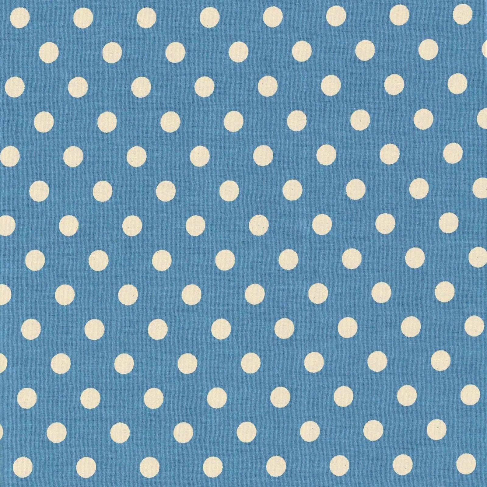 Poá Grande Azul Jeans Com Bege Ref.1554 cor 131 Peripan - Armarinhos Nodari