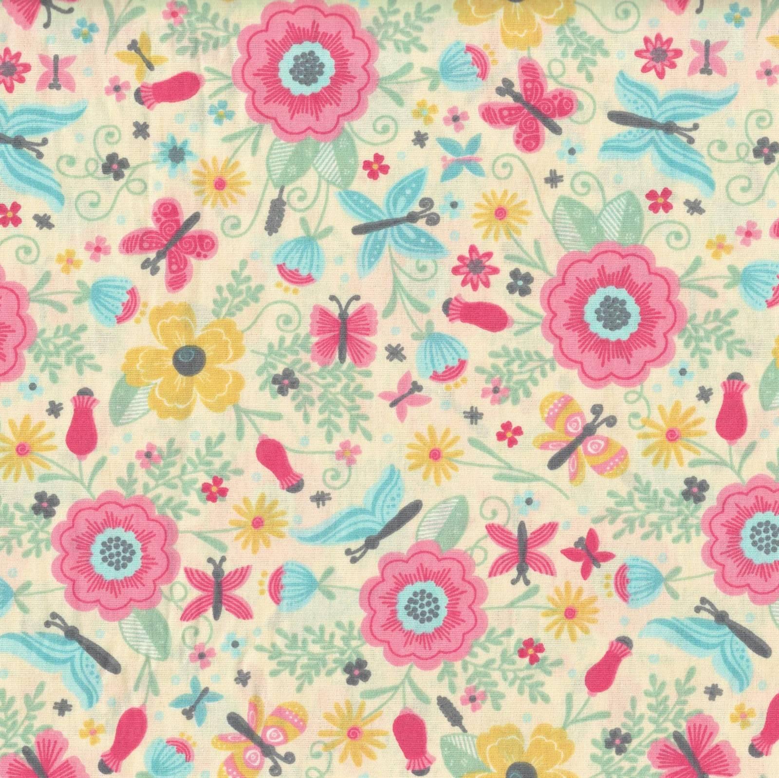 Floral E Borboleta Ref. BB8006-1 Eva e Eva - Armarinhos Nodari