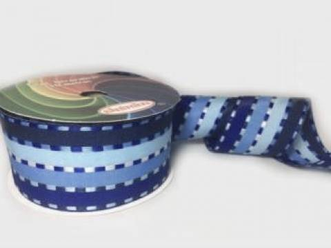 Fita Decorativa 38mm com 10m Sinimbu Ref. 1724 Cor 08 Tons De Azul - Armarinhos Nodari
