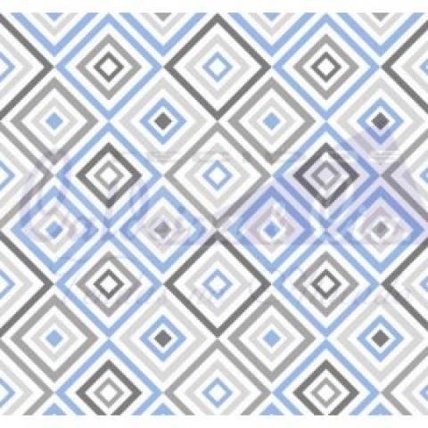 Geométrico - Azul Com Cinza - Cor 03 - Ref. 180658 - Caldeira - Armarinhos Nodari