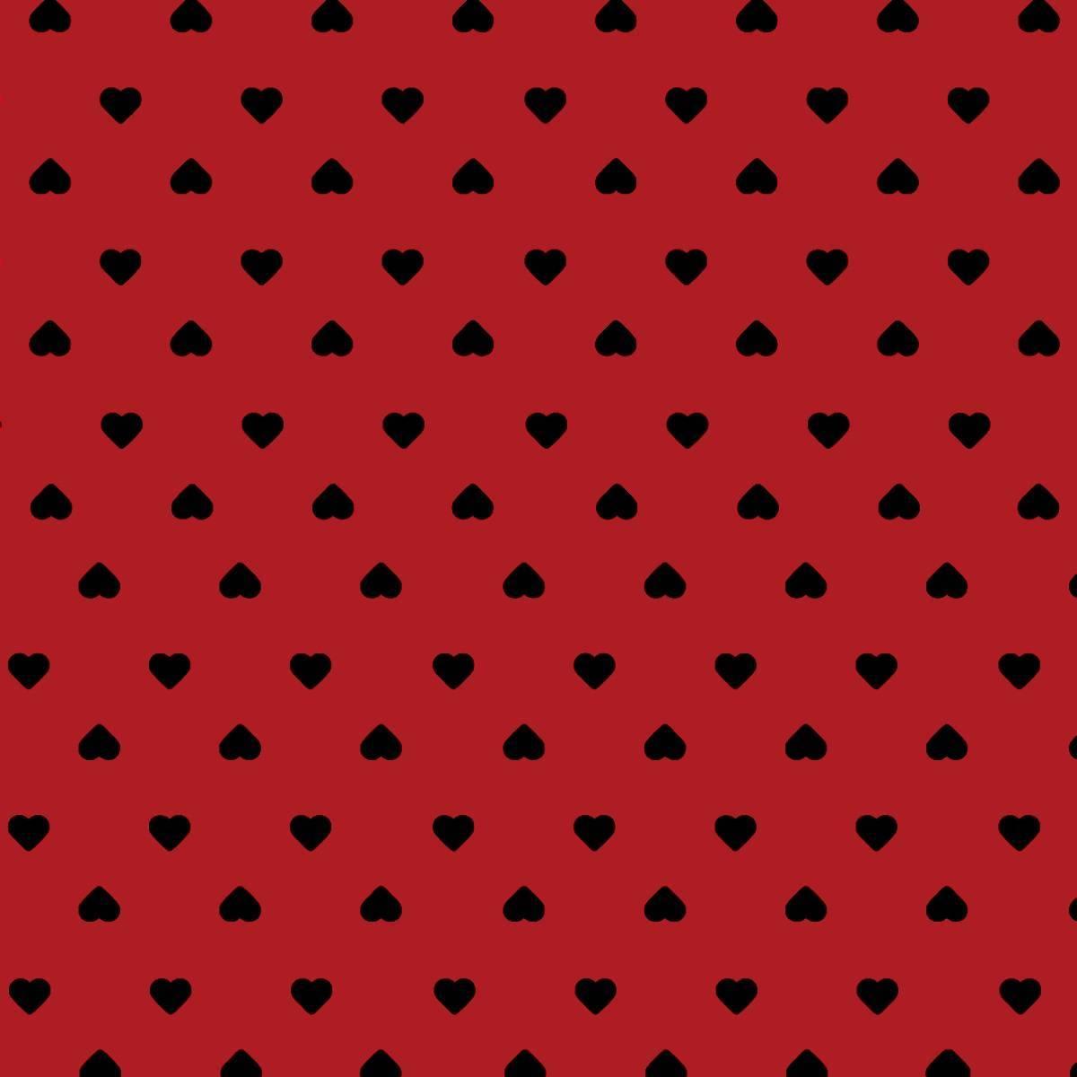 Corações Preto Com Vermelho Ref. 1302 Cor 11 Peripan - Armarinhos Nodari