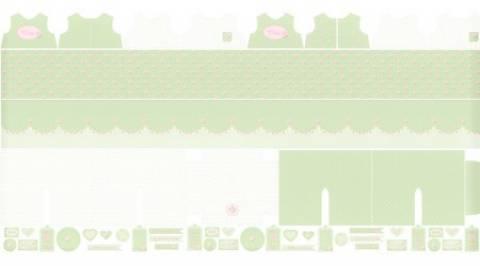 Painel - Coleção Coração de Pano - Florzinhas Fundo Verde - Ref. CP001C04 - Fernando Maluhy - Armarinhos Nodari