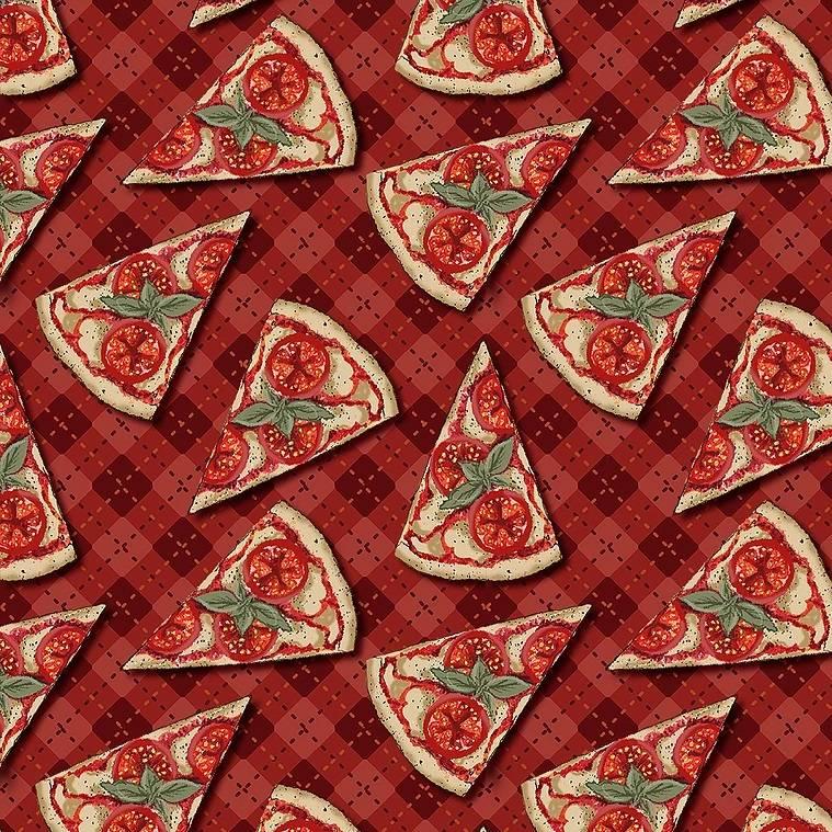 Estampa Digital - Pizza - Ref. CF001 - Fuxicos e Fricotes - Armarinhos Nodari