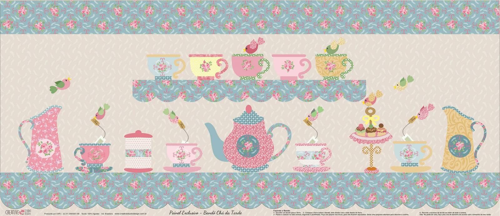 Bandô Chá Da Tarde - Ref. CS002 - Creative Studio Design - Armarinhos Nodari