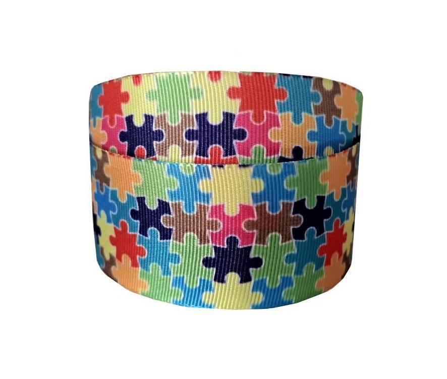 Fita Decorativa - Quebra-Cabeças Colorido - Ref. 1665 - Cor 17 - 38mm com 10m - Sinimbu - Armarinhos Nodari