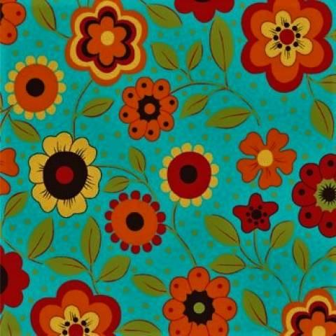 Floral Fundo Verde - Ref. AL6149-2 - Eva e Eva - Armarinhos Nodari