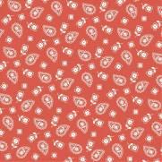 Tecido Tricoline Estampado Mini Cashmere Ferrugem - Ref. 900226 - Basics & Colors