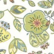 Tecido Tricoline Estampado Flores e Folhas Verde - Ref. 12868 - Importado - Toke e Crie