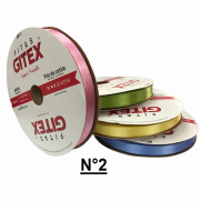 Fita de Cetim - nº2 com 50m - Gitex