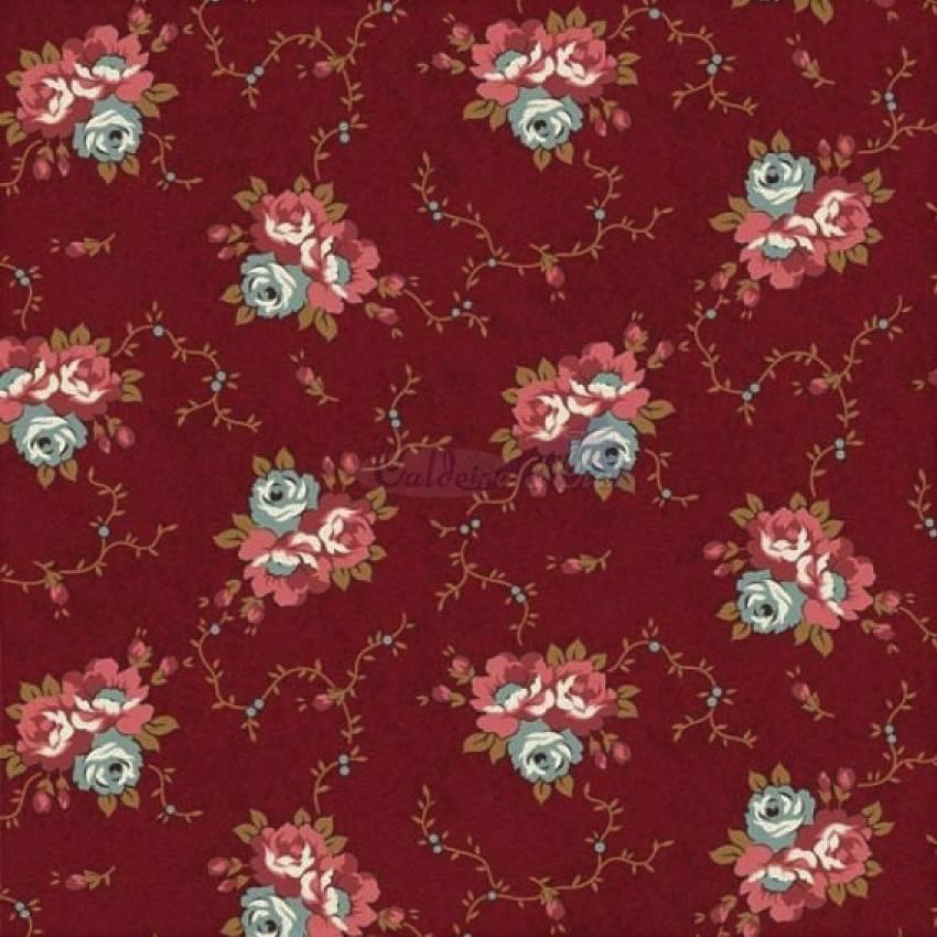 Tecido Tricoline Estampado Floral Marilyn Monroe Vermelho - Ref. 180642 cor 06 - Caldeira - Armarinhos Nodari