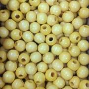Miçangas de Madeira cor Cerejeira - Pacote com 10 Unidades - NYBC