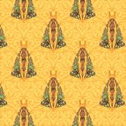 Tecido Tricoline Digital Estampado Nossa Senhora Aparecida Com Amarelo - Ref.9000 cor E153 - Peripan