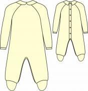 Kit Molde Tip Top Bebê Raglan com Pézinho - Ref. 324 - Modelitus