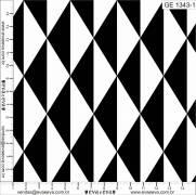 Tecido Tricoline Estampado Geométrico Preto e Branco - Ref. GE1343-1 - Eva e Eva