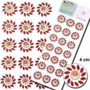 Cartela Adesiva Florzinhas 10mm Vermelho - MFLOR-G-C - NYBC