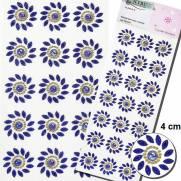 Cartela Adesiva Florzinhas 10mm Azul Royal - MFLOR-G-C - YBC