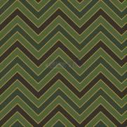 Tecido Tricoline Estampado Chevron Verde com Detalhes em Dourado - Ref. 180205 Cor 23 - Caldeira