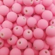 Pérola Fosca com Furo - Rosa Bebê - 8mm - Pacote com 15g - Roma
