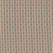 Tecido Tricoline Digital Estampado Xadrez Kokeshi - Ref. KO004 - Fuxicos e Fricotes