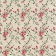 Tecido Tricoline Digital Estampado Cerejeiras Fundo Bege - Ref. KO006 - Fuxicos e Fricotes