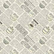 Tecido Tricoline Digital Estampado Caderno de Receitas - Ref. PRE010 - Fuxicos e Fricotes