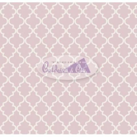 Tecido Estampado Ana cor - 08 (Rosa) Ref. 180581 cor 08 - Armarinhos Nodari