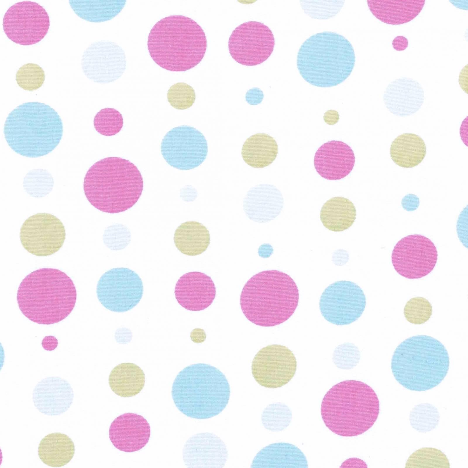 Tecido Tricoline Estampado Bolas Azul Com Rosa - Ref. 180588 cor 03 - Caldeira - Armarinhos Nodari