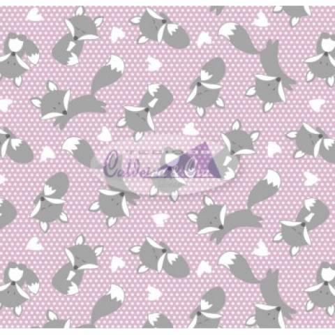 Raposa cor - 03 (Rosa com Cinza) Ref. 180601 cor 03 Caldeira - Armarinhos Nodari