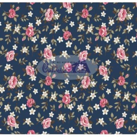 Lúcia cor - 12 (Fundo azul Marinho) Ref. 180355 cor 12 Caldeira - Armarinhos Nodari