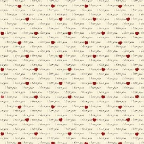 I Love You Creme Ref. 7001 Fabricart - Armarinhos Nodari