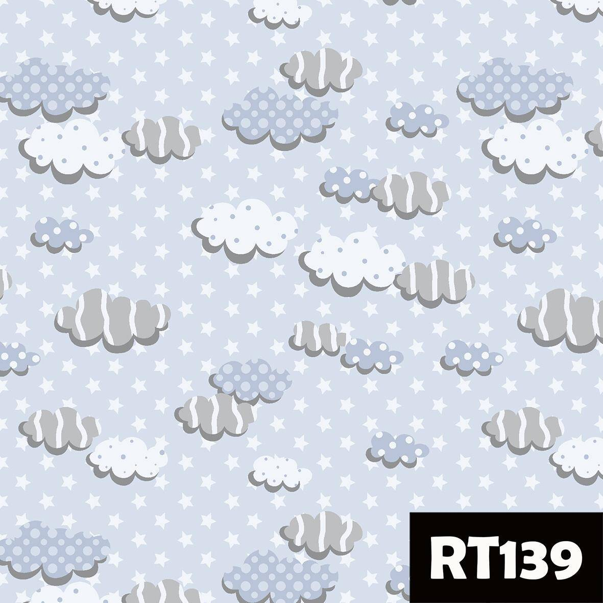 Nuvens azul Ref. RT139 Fuxicos e Fricotes - Armarinhos Nodari