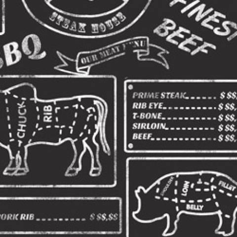 Estampado Cortes De Carne Ref. 30605 Cor 01 Fernando Maluhy - Armarinhos Nodari