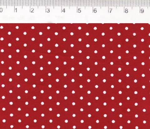 Estampado poá vermelho Ref.50025 cor 06 Fernando Maluhy - Armarinhos Nodari