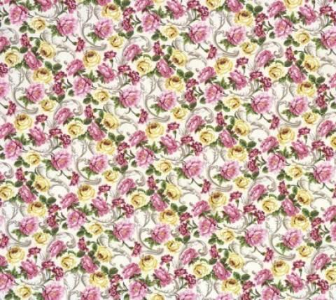 Floral fundo bege Ref.5145 - Armarinhos Nodari