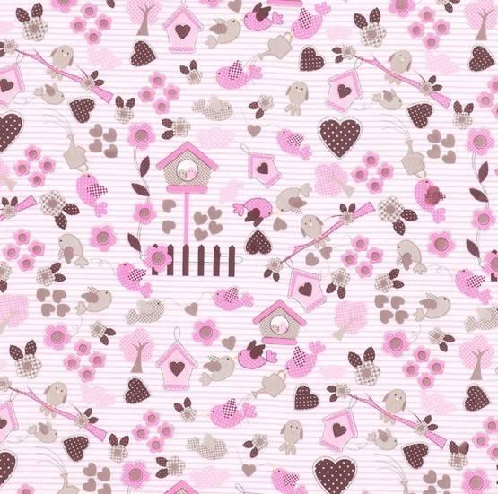 Casinha Pássaros Rosa Ref. 4980 A Dohler - Armarinhos Nodari