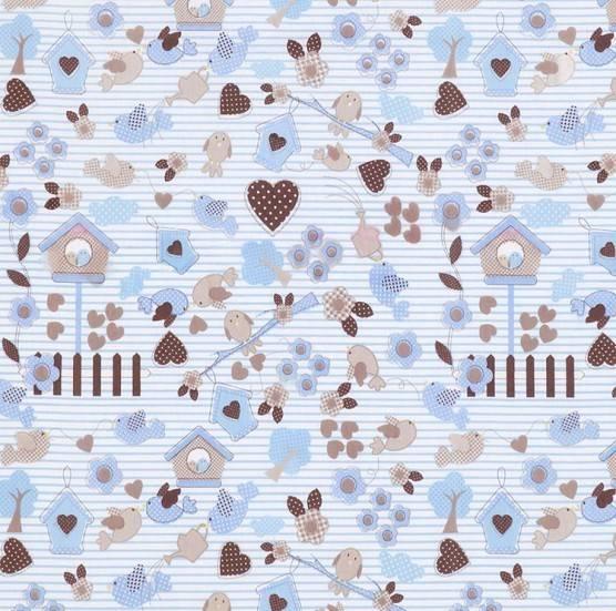Casinha Pássaros Azul Ref. 4980 B Dohler - Armarinhos Nodari