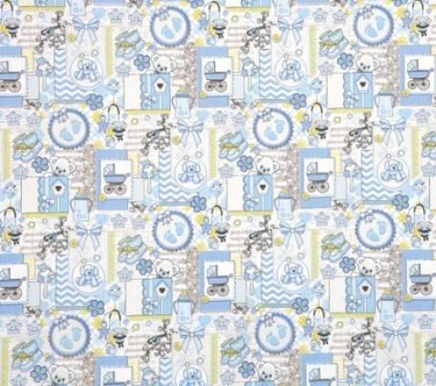 Estampado Infantil Azul Ref. 5147 A Dohler - Armarinhos Nodari