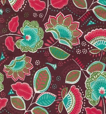 Floral marrom Ref.AU6311-1 Eva e Eva - Armarinhos Nodari