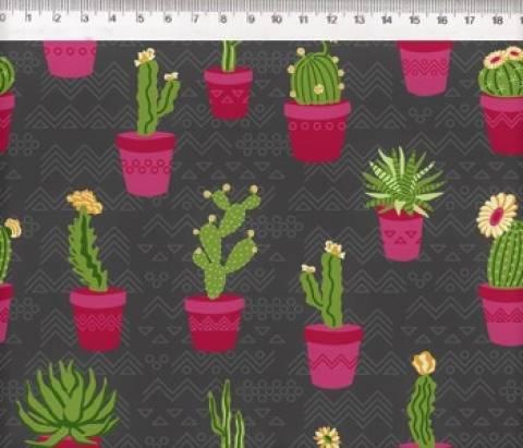 Cactos Flowers Ref. 29040 Cor 02 Fernando Maluhy - Armarinhos Nodari